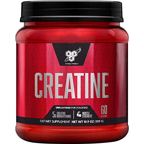 BSN Micronized Creatine Monohydrate Powder, Unflavored, 2 Months Supply-60 Servings (Best Creatine Monohydrate Product)