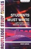 Students Must Write, Robert Barrass, 0415132223