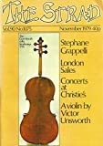 img - for The Strad : A Profile of Stephane Grappelli; Carbon Paper in Violin Repair; Tempo Indications in Bartok's Quartet No. 2; Violin Making at Loughborough book / textbook / text book