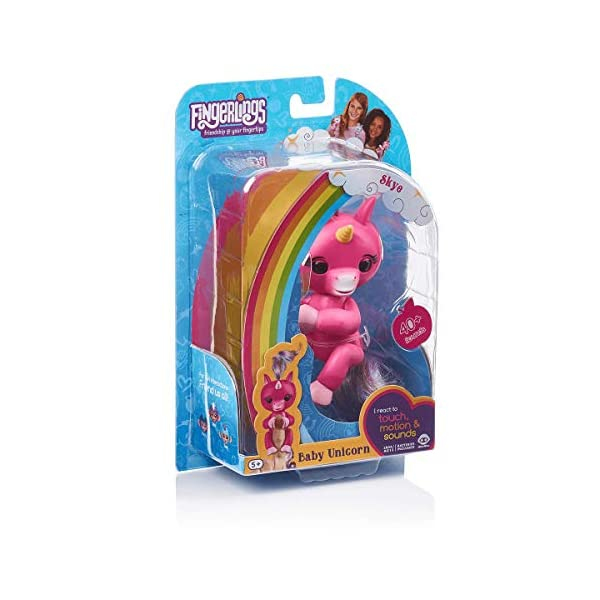 WowWee (WOWWM) Fingerlings Baby Unicorn Skye (Hot Pink With Rainbow Mane And Tail) - Friendly Interactive Toy By Wow wee… 5