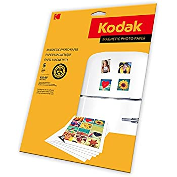 KODAK Magnetic Photo Paper - Magnetic backed Photo Paper, 8-1/2 x 11
