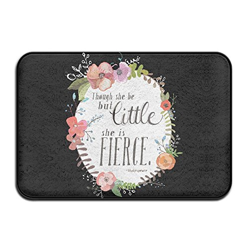 Youbah-01 Antislip And Though She Be But Little She Is Fierce Shakespeare Bath Rugs Slide-proof Rug