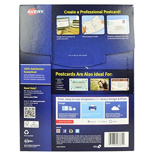 Avery 3381 Inkjet Postcards Index Cards 200 Blank Cards 4