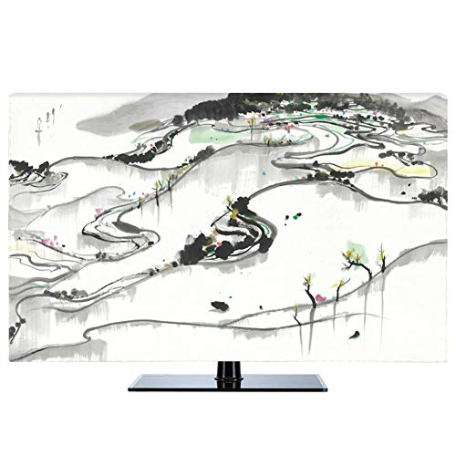Ting Ting Tv cover New Chinese Dust-proof Protect TV Sets LCD TV Display TINGTING-protective sleeves (Color : Sea of…