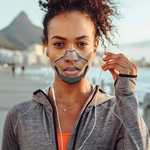 clacce Gesichtsschutz_Plexiglas - Waschbare Wiederverwendbare Face_Visier für Herren Damen Transparente Offene Face_Shield Gesichtsschutz_Sicherheitsgesichtsschutz