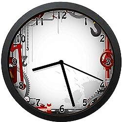 YiiHaanBuy Landscape Decorative Wall Clock,of Golden Gate Bridge San Francisco Coastline Nature Seascape-Office,Bedroom,Kitchen,Bathroom,Silent Battery Quartz Wall clock-10 inch