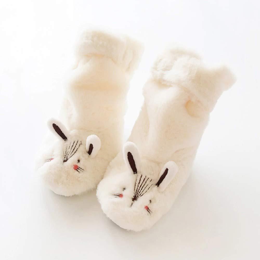 Hongxin Floor Anti-slip Socks,Baby Girls Boys Cartoon Animal Plus Velvet Thick Warm Slippers Socks