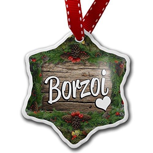 Christmas Ornament Borzoi, Dog Breed Russia - Neonblond
