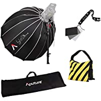 Focus Camera Aputure Light Dome 35 Inch Deep Octagon Softbox for Light Storm LS Cob120t 120d, 300d, 300t Godox AD600B AD600BM & Other Bowen-S Mount Lights: Comes with Carrying Bag and Weight Bag