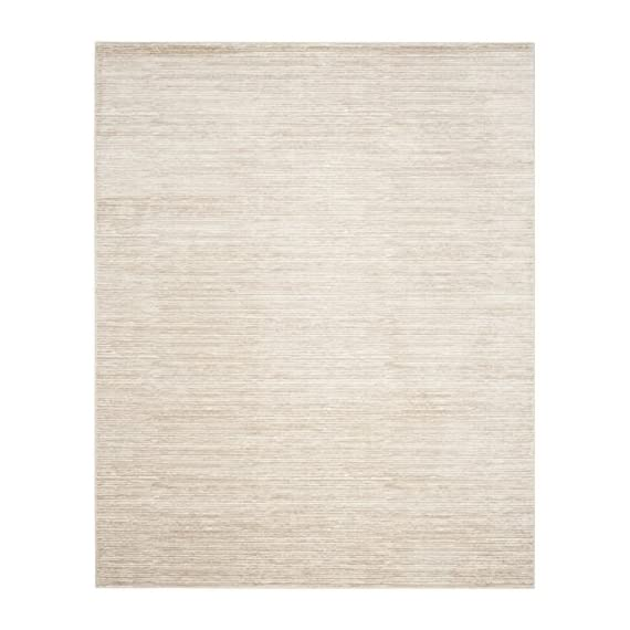 Safavieh Vision Collection VSN606F Cream Area Rug (8' x 10') - Tone-on-tone colors give these rugs a clean contemporary vibe Versatile enough to decorate the bedroom, dining room, living room, foyer, or home office Refined power-loomed construction and enhanced polypropylene fibers ensure an easy-care and virtually non-shedding rug - living-room-soft-furnishings, living-room, area-rugs - 51GVpvBbkLL. SS570  -