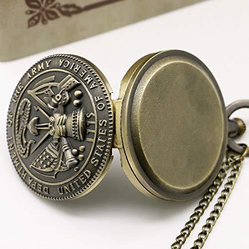 ZJZ Ny fickur stil vintage brons fickur med halsband kedja