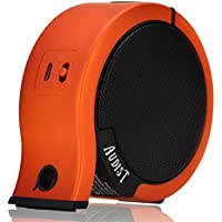 AUDIST Wireless Bluetooth Speaker - Powerful Sound with Enhanced Bass for Music Streaming and Hands-Free Calling. Premium Portable Speaker System Compatible with All Bluetooth Devices - Orange