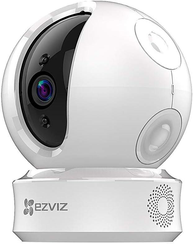 EZVIZ EZ360 720P Cámara de Seguridad Pan/Tilt Wi-Fi con Visión Nocturna, Audio Bidireccional, Máscara de Privacidad Inteligente, Servicio de Nube Disponible, Compatible con Alexa, Google Home y IFTTT