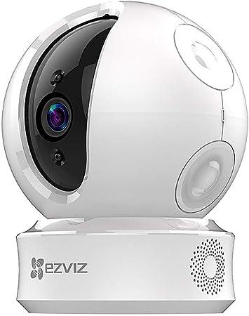 Alarme D/étection de Mouvement SD Carte EZVIZ Cam/éra Surveillance WiFi Int/érieure Vision Nocturne Audio Bidirectionnel Cam/éra IP sans Fil Alexa Google Home Cloud 111/° Grand Angle Zoom 8X