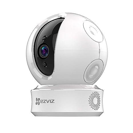 EZVIZ ez360 720p Cámara de Seguridad Pan/Tilt WiFi de Vigilancia,Visión  Nocturna,Audio Bidireccional,Máscara de Privacidad Inteligente,Seguimiento  de