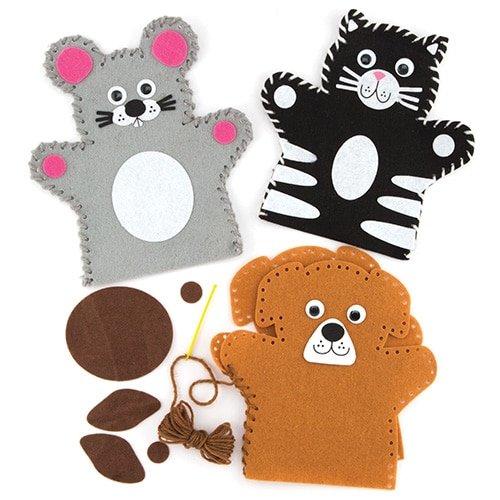 Baker Ross Pets Hand Puppet Sewing Kits for Children to Make - Creative Kids Craft Set (Pack of 4)   B07CS1DRV6