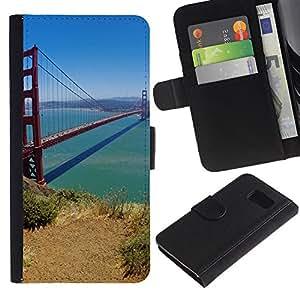 All Phone Most Case / Oferta Especial Cáscara Funda de cuero Monedero Cubierta de proteccion Caso / Wallet Case for Sony Xperia Z3 Compact // San Francisco Bridge