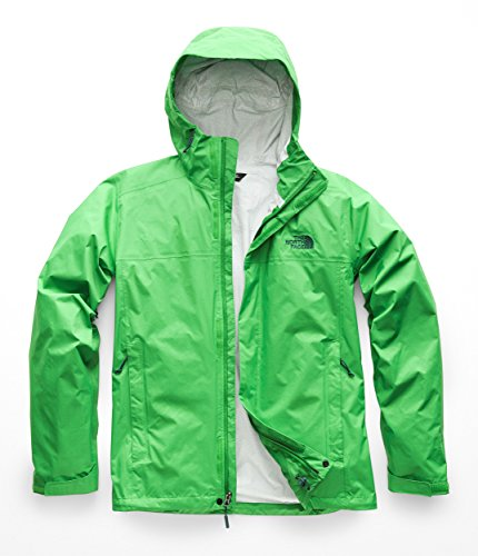 Covered Face - The North Face NF0A2VD3 Men's Venture 2 Jacket, Primary Green/Primary Green - L