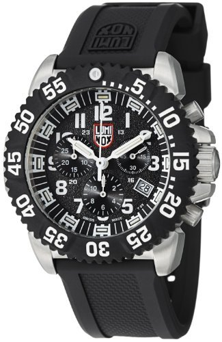 Luminox Navy SEAL Colormark Chronograph Black Dial stainless Steel Mens Watch 3181 ()