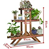 Solid wood flower stand/showy/flower pot/green rose multi-layer floor shelf/bonsai wooden flower racks/balcony living room indoor flower-A