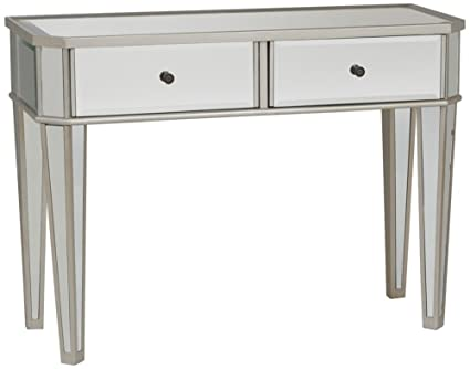 Beau Powell Mirrored Console With Silver Wood