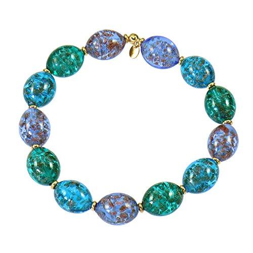 Aleksander Sternen Notti d'estate a Venezia Bracelet pour femme avec perles en verre de Murano et aventurine