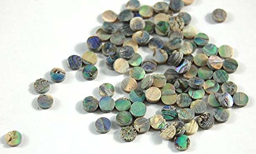 Green Abalone Inlay Material Dots 2mm 100pcs, for Guitar, Ukulele, Mandolin, Banjo Fretboard Mark Point ¡K