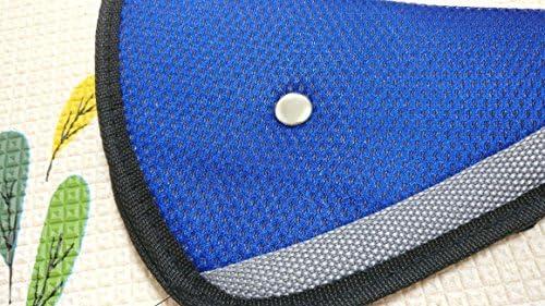 Fontee Baby 2pcs Segura Fit engrosamiento del cintur/ón de seguridad del coche Ajuste de dispositivos de seguridad para ni/ños del beb/é de la correa Protector cintur/ón de seguridad posicionador,Azul