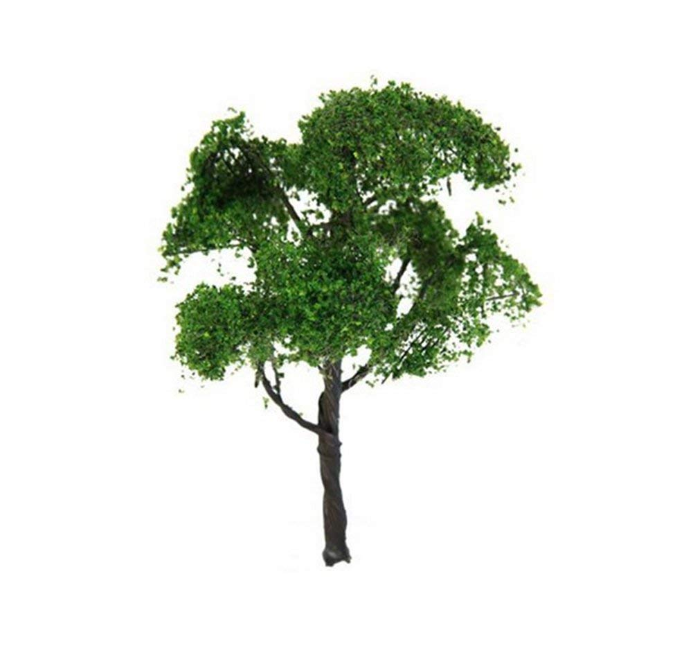 TOBABYFAT 27Pcs Border Trees Miniature Landscape Plastic Tree Model Scenery Tree Artificial Plants Train Railways Model Tree Scale Decoration (1 Pcs, 1:75)