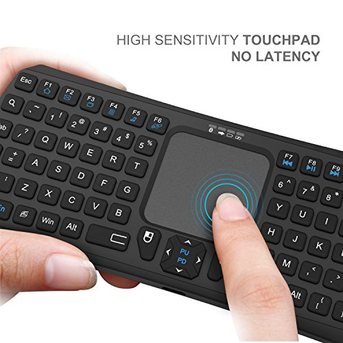 Mini Bluetooth Keyboard, Jelly Comb Rechargable Handheld Remote