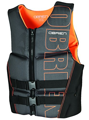 O'Brien Men's Flex V-Back Neoprene Life Vest, Orange, - Vest Neoprene Mens