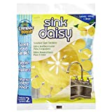 Compac's Sink Daisy, Scented Kitchen Sink Strainer - Infuses and Freshens Your Sink With Crisp, Clean, Exciting Scents, While Protecting Garbage Disposals & Drains, Lemon, 12 Count