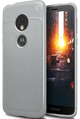 Moto E5 Funda, iBetter anti-rasca la Carcasa alta calidad TPU de la imitación ninguna Case del teléfono móvil caja del teléfono Cover para Moto E5, (Gris) Gris