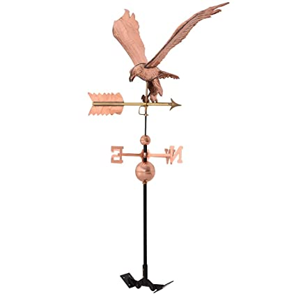 """Garden Outdoor Polished Roof Mounted Copper Horse Weathervane 38/""""x18/""""x46/"""" US"""