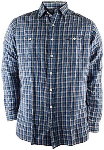 Polo Ralph Lauren hombres Mezcla de lino camisa a cuadros X-Large Azul: Amazon.es: Ropa y accesorios