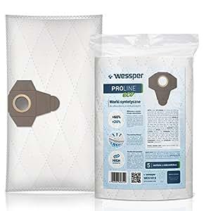 Wessper Bolsas de aspiradora para Parkside PNTS 1500 B3 (5 ...