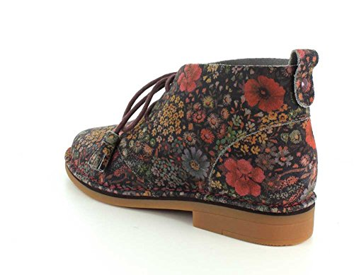 Hush Puppies Frauen Cyra Catelyn Boot Schwarz Floral Multi Suede