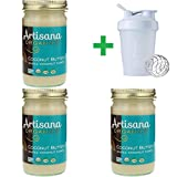 Artisana, Organics, Raw Coconut Butter, 14 oz (397 g) (3 PACKS) + Assorted Sundesa, BlenderBottle, Classic With Loop, 20 oz
