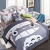 Cartoon My Neighbor Totoro Bedding Sets - Sport Do Ultra Soft Children Favorite Gifts Fitted Sheet 4PC Queen