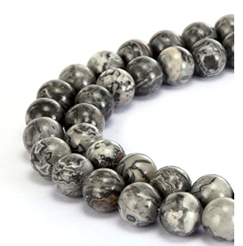 Top Quality Natural Landscape Jasper Gemstone Beads 8mm Round Loose Beads 15.5