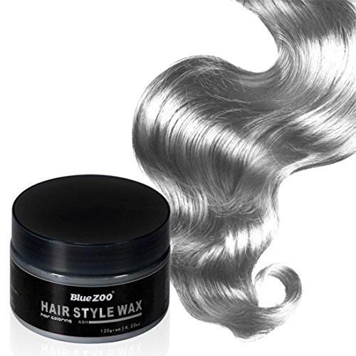 Creazy 7 Colors Unisex DIY Hair Color Wax Mud Dye Cream Temporary Modeling (Cherry Sun Protection Cream)