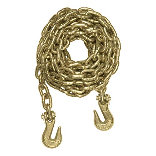 CURT 80311 20-Foot Trailer Safety Transport Tie-Down Load Binder Chain 3/8-Inch Clevis Hooks, 26,400 lbs. Break ()