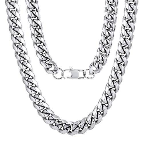 24 inch Chain Men Gift Stainless Steel Necklace ()