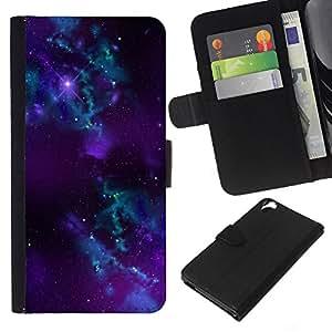 All Phone Most Case / Oferta Especial Cáscara Funda de cuero Monedero Cubierta de proteccion Caso / Wallet Case for HTC Desire 820 // Nebula Galaxy Stardust Purple Universe Gas