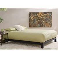 Aura Metal Platform Bed Black, Comes in Twin, Full, Queen, King.