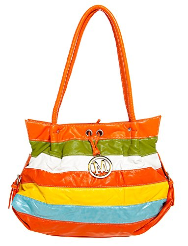 Small M Inspired Logo Rainbow Hobo women handbag Shoulder Handbag by Handbags For All