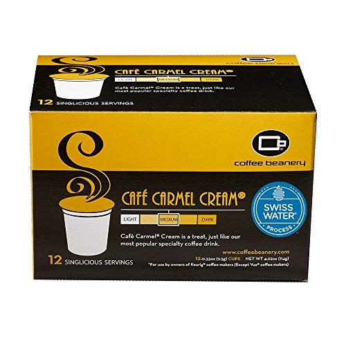 Coffee Beanery Cafe Carmel SWP Decaf Singlicious Servings Single-cup Coffee Pack Sampler for Keurig K-cup Brewers