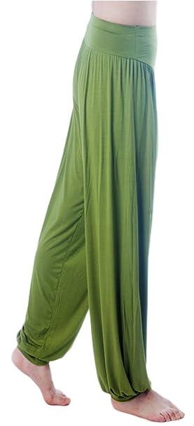750ae387fa AvaCostume Womens Modal Cotton Soft Yoga Sports Dance Harem Pants, S,  ArmyGreen