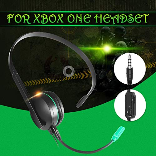SMALL-CHIPINC - Wired Chat Gaming Single Side Headset Headphones Earphone Gaming Noise Cancelling With Microphone For PS4 For Xbox ONE