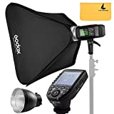 Godox AD600BM AD Sync 1 / 8000s 2.4G Wireless Flash Light Speedlite,Godox XPro-S for Sony DSLR Cameras,AD-R6,80cmX80cm /32''X32''Softbox
